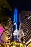 Cubo di Mahanakhon il più alta costruzione in Tailandia Fotografie Stock Libere da Diritti