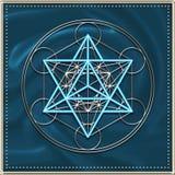 Cubo di Metatrons - di Merkaba illustrazione di stock