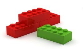 Cubo di plastica verde unico illustrazione di stock