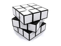Cubo di puzzle Fotografie Stock Libere da Diritti