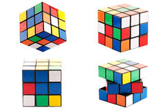 Cubo di puzzle fotografia stock