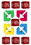 Cubo di vendite Immagini Stock