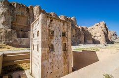 Cubo di Zoroastro in necropoli antica Naqsh-e Rustam nella provincia di Fars, Iran immagini stock libere da diritti