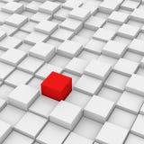 Cubo differente di colore rosso Fotografia Stock