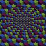 Cubo dimensional do vetor que repete o fundo do teste padrão ilustração do vetor