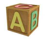 Cubo do ABC Fotografia de Stock
