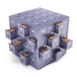 Cubo do armário de arquivo Imagens de Stock