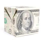 Cubo do dólar Imagem de Stock