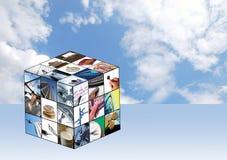 Cubo do negócio Imagem de Stock
