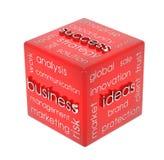 Cubo do negócio Foto de Stock