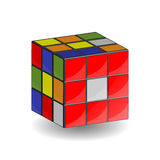 cubo 3x3 do ` s de 3D Rubik Fotografia de Stock Royalty Free