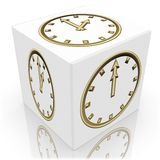 Cubo do tempo Imagem de Stock