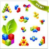 Cubo do vetor para o Web. Imagens de Stock