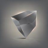 cubo do vidro 3D Imagem de Stock