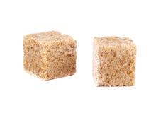 Cubo due dello zucchero di canna Fotografia Stock