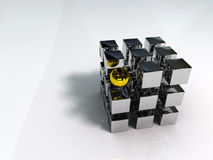 Cubo e esfera Imagem de Stock