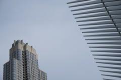 Cubo e estação do transporte do World Trade Center de Oculus foto de stock