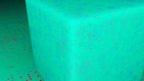 Cubo e pavimento astratti di spostamento 3d che rende contesto digitale Loopable illustrazione di stock