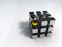 Cubo e sfera Immagine Stock