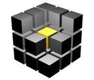 Cubo em um corte ilustração royalty free
