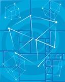 Cubo en azul Imagen de archivo