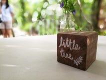 Cubo en la tabla Fotografía de archivo libre de regalías