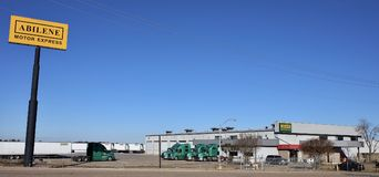 Cubo expresso do motor de Abilene, Memphis ocidental, Arkansas fotografia de stock