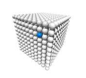 Cubo feito das esferas ilustração do vetor