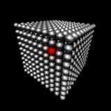 Cubo feito de esferas pequenas ilustração royalty free