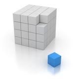 Cubo final stock de ilustración