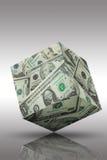 cubo finanziario della moneta bancaria Fotografia Stock