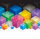 Cubo geométrico Imagens de Stock