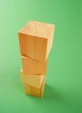 Cubo geométrico de madeira Imagem de Stock Royalty Free