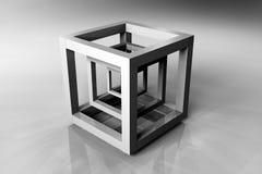 Cubo geometrico Fotografia Stock