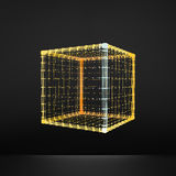 cubo Hexahedron regular Sólido platônico Poliedro regular, convexo estrutura da conexão 3D Elemento geométrico da estrutura Fotos de Stock