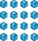 Cubo I de la seguridad y del comercio electrónico ilustración del vector
