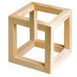 Cubo imposible. ilustración del vector
