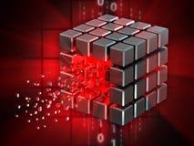 Cubo inciso di dati illustrazione di stock
