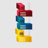 Cubo infographic Ilustração Stock