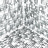 cubo interior del extracto 3d de los rectángulos 01 Fotografía de archivo