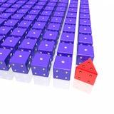 Cubo inusual del juego Stock de ilustración