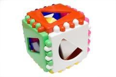 Cubo lógico del bebé en fondo aislado Foto de archivo