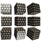 cubo modelado 3D Fotografia de Stock Royalty Free