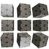 cubo modelado 3D Imagens de Stock