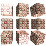 cubo modelado 3D Imagem de Stock Royalty Free
