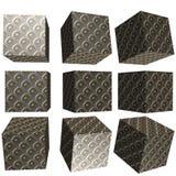cubo modelado 3D Fotografia de Stock