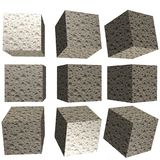 cubo modelado 3D Foto de Stock Royalty Free