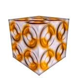 cubo modellato 3D Fotografia Stock Libera da Diritti