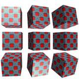 cubo modellato 3D Fotografie Stock Libere da Diritti
