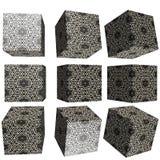 cubo modellato 3D Immagini Stock